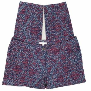 CAbi Palm Beach Floral Geometric Print Ankle Pants